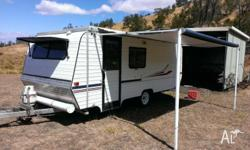 1990 Roma Elegance caravan roll out factory awning