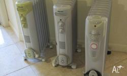 We have 3 oil-filled heaters available. All with