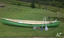Rosco Canoe approx 14 ft long Good condition no leaks