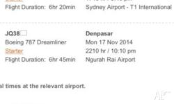Im selling my ticket from Sydney to Bali(Denpasar) and