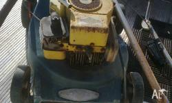 up 4 sale is this rover lawn mower, powered by a b/s