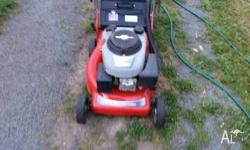 ROVER 4 STROKE MOWER AND CATCHER LARGE DOUBLE HANDLED