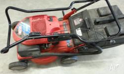 This lawn mower is in good condition and is seldomn