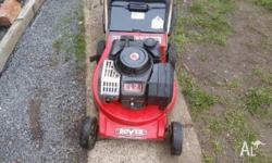 ROVER MOWER AND CATCHER GREAT CONDITION 4 BLADE CUT