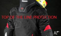 Protective high-performance motorbike jacket. **FREE