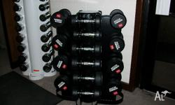 Features of the Chrome Dumbell Rubberised round heads