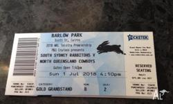 2 tickets to South Sydney Rabbitohs V Norh Queensland