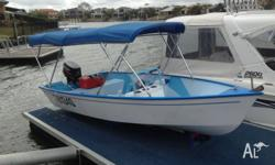 30 Hp Mercury 2 stroke with approx 15 hours. Sits on a