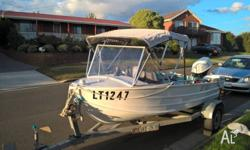 Great runabout for estuary and lake fishing, or family