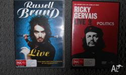Russel Brand Ricky Gervais comedy DVDs.. now have it on