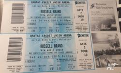 Russell Brand Tickets Unfortunately I can't go, heading