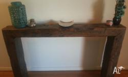 Rustic hall table made of railway sleepers One of a