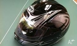 RXT Helmet a-670 - the face folds up for easy on and