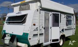 S/N 1315 Jayco Outback, 1999, White and blue, Pop Top,
