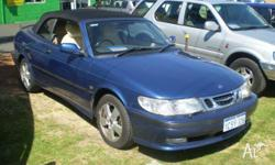 SAAB, 9-3, MY01, 2001, FWD, BLUE, 2D CONVERTIBLE,