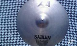 "Up for sale I have a Sabian AA 20"" Medium Ride cymbal."