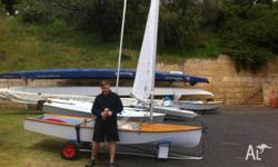 Popular single handed racing skiff. Timber hull, new