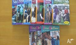 7 x Saddleclub books and 2 Pine Hollow Novels. Great