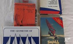 A selection of sail making books from a previous