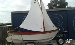 12ft sailing /rowing / motor boat. Good condition. 3.3