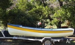 15' Rogue sailing dinghy, marine ply. Good condition,