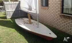 For sale is a sailing laser. All in great condition