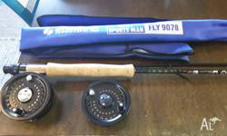 Saltwater flyfishing combo. Reel is a Scientific