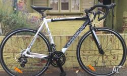 Superlite drop bar road bike with full Shimano gearing,