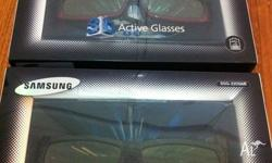 3d Active Glasses x 2 Model no. - SSG-2200AR Samsung 3D