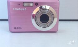 Samsung ES55 Digital Camera (Pink) in great quality. a