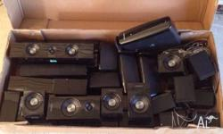 Box of Samsung Speakers Small one each for 5 Medium one