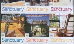 Nine issues of Sanctuary magazine, published by the