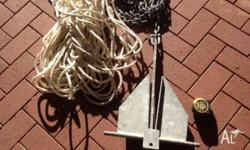 Near new sand anchor with 6m of chain and 30m of rope