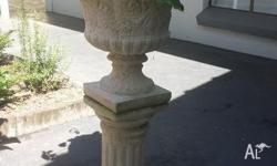 Sandstone pots and stands. Both the same