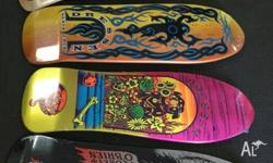 Santa Cruz Decks $99 each at Aikenheads Skateboards 7/6