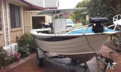 This great fishing rig is fitted with a 2005 Mercury
