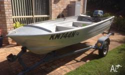 Savage Gull MK III 11 foot Tinnie with Suzuki 8