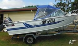 Aluminium Savage Scorpion 465 with 70HP Yamaha.Fish