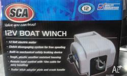 For Sale SCA 12V 900kg Boat Winch This Winch is Brand