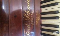 Gorgeous old piano free to anyone that can pick it up