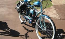 THIS BIKE IS A PRESERVED MOTORED BICYCLE BUILT IN THE