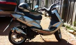 150CC TGB Silver and black scooter. Hardly used, only