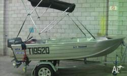 Alloy Sea Jay Nomad on Redco Trailer Yamaha 20hp New