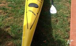 Mirage fibreglass 17ft kayak in good condition.