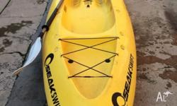 Good condition yellow Seakswift's kayak , rarely used,