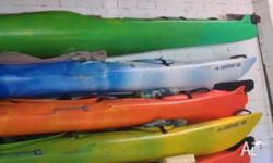 Contour Perception 480 sea kayaks paddle and skirts