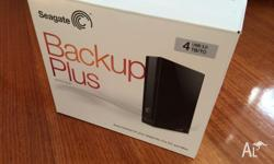 Up for sale is a Brand New Seagate Backup Plus 4TB USB