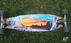 THIS SECTOR NINE LONGBOARD HAS HARDLY BEEN USED ALL