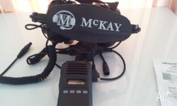have for sale a headset and two way radio , boom mike ,