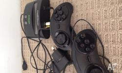 Rarely used sega mega drive with over 20 built in games